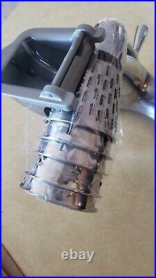 Saladmaster V Machine Food Processor Vegetable Cutter Slicer Shredder with5 Cones