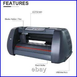 Secondhand Clamshell Heat Press Machine 15x15 14'' Vinyl Cutter Plotter 3 Blade