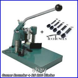 Techtongda Desktop Manual Fillet Corner Rounder Punch Cutter Machine R6 R10
