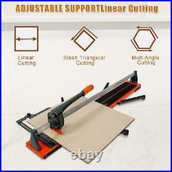 Tile Cutter Manual Tile Cutter 48-Inch Ceramic Porcelain Cutting Machine Orange