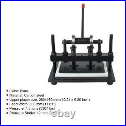 US Manual Leather craft Die Cutting Machine Leather Paper PVC Sheet Punch Cutter