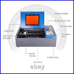 Upgraded 40W CO2 Laser Engraver Cutter Cutting Machine Craft USB 12x 8 DIY