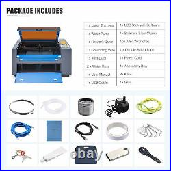 Upgraded CO2 Laser Engraver 60W 24x16 Cutter Cutting Engraving Marking Machine