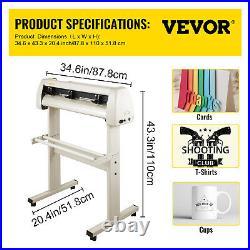 VEVOR 28 Vinyl Cutter/Plotter Sign Cutting Machine Software 20Blades LCD White
