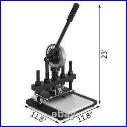 VEVOR 7.87x5.51 Leather Cutting Machine MAX. 10MM Die Cutter for PVC/Plastic